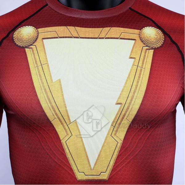 Shazam Billy Batson Captain Marvel 3D Printed T Shirt Cosplay Costume