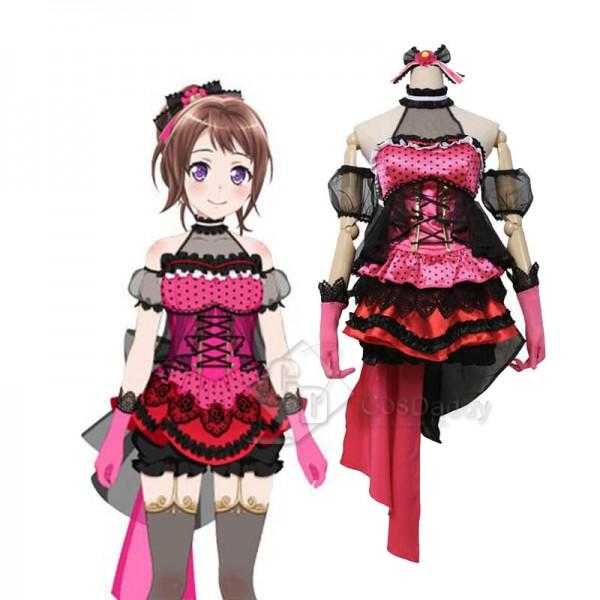 BanGDream Poppin'Party Toyama Kasumi Cosplay Costu...
