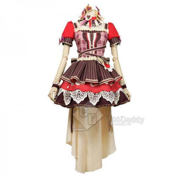 BanGDream! Dustabata Happy Valentine Ichigaya Arisa Cosplay Costume