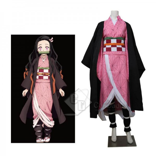 Demon Slayer: Kimetsu no Yaiba Kamado Nezuko Cosplay Costume