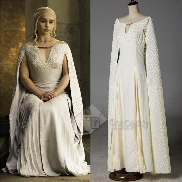 Game of Thrones Queen Daenerys Targaryen White Lon...