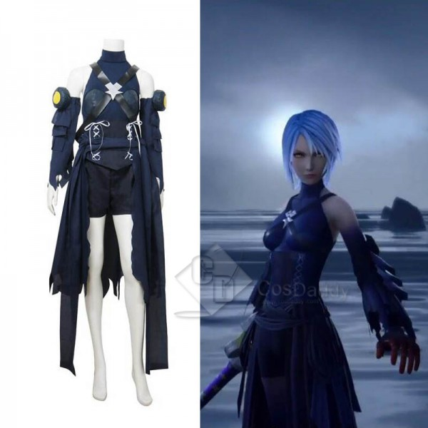 Kingdom Hearts III 3 Aqua Cosplay Costume