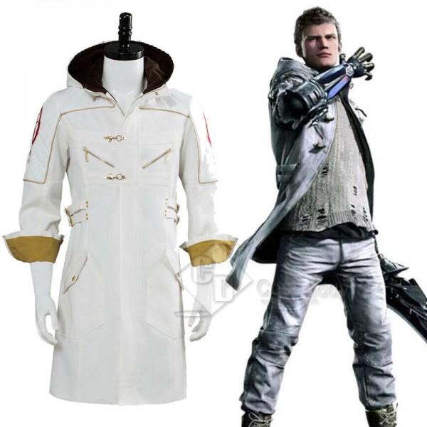 Devil May Cry 5 DMC 5 Nero Jacket DLC White Coat C...