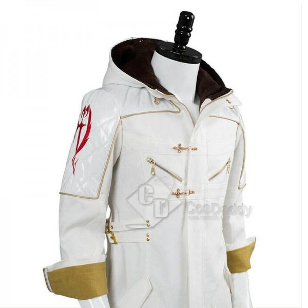 Devil May Cry 5 DMC 5 Nero Jacket DLC White Coat Cosplay Costume