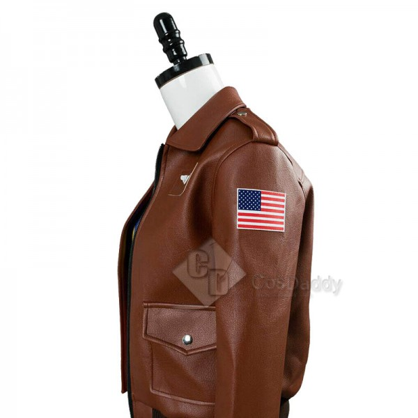 Captain Marvel Carol Danvers U.S.Air Force T Shirt Bomber Jacket Cosplay Costume