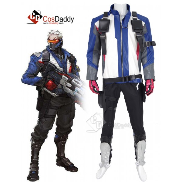 Overwatch Soldier: 76 Cosplay Costume Full Set Out...