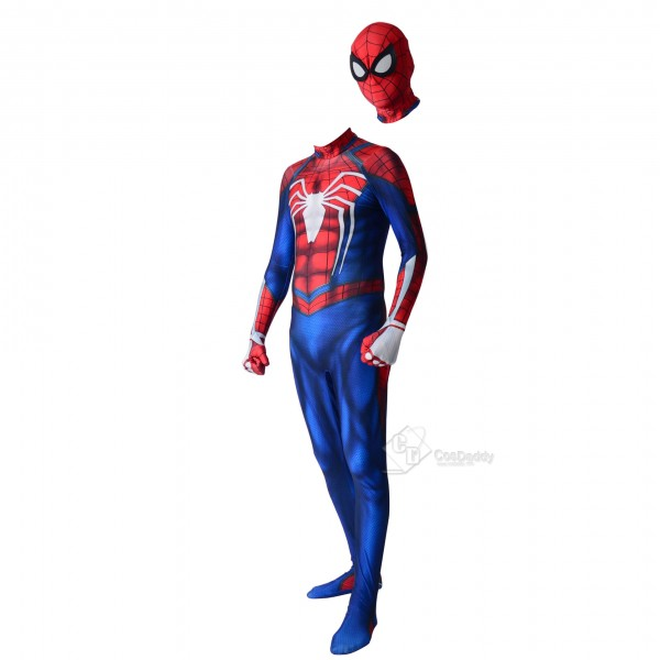 Spiderman ps4 Advanced Suits Halloween Spider Man Lycra Spandex Bodysuit Cosplay Costume