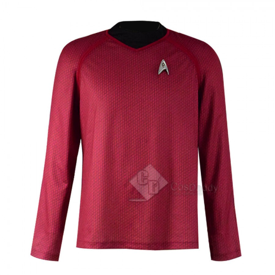 Star Trek Into Darkness Captain Kirk Spock Yellow+Red Shirt Cosplay Costume