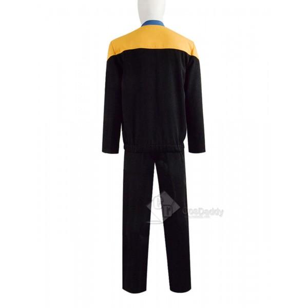 Star Trek Deep Space Nine Voyager Starfleet Yellow Uniform Jumpsuit Costume
