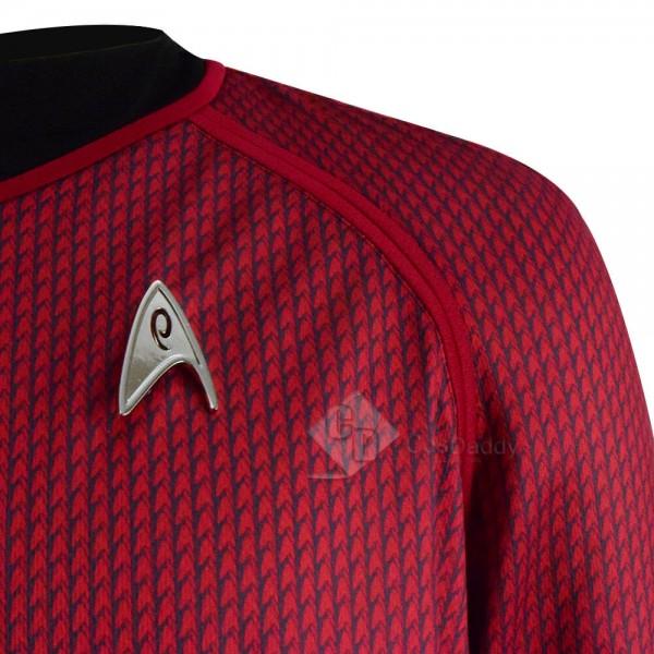 Star Trek Into Darkness Red Captain Man's Cosplay T-shrit