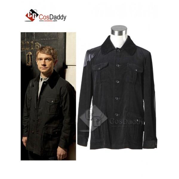 Sherlock Holmes Dr. John Watson Black Jacket Cospl...