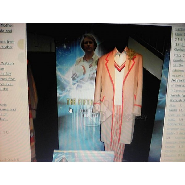 Cosdaddy Doctor Who fifth 5th Beige Coat Cosplay F...