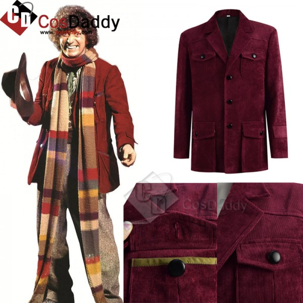 Doctor Who Fourth 4th Doctor Tom Baker Dark Red Co...