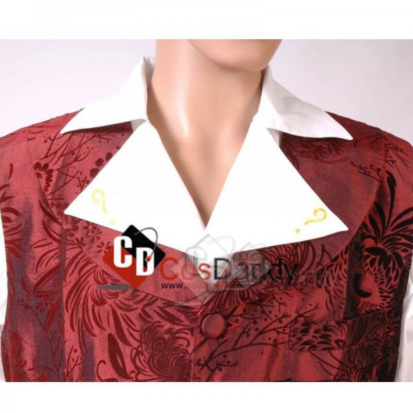 Doctor Who fourth 4th Doctor Question Mark Shirt Cosplay Costume