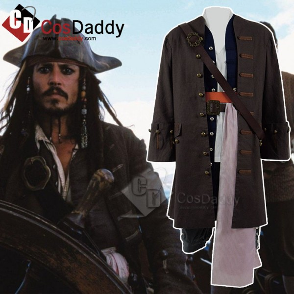 Pirates of the Caribbean Captain Jack Sparrow Cosp...