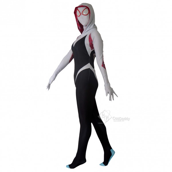 Into the Spider-Verse:Halloween Spider Man Gwen Stacy Suit Cosplay Costume For Women