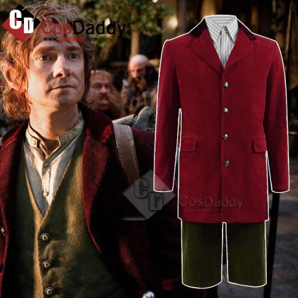 The Hobbit Bilbo Baggins Jacket Vest Pants Full Se...