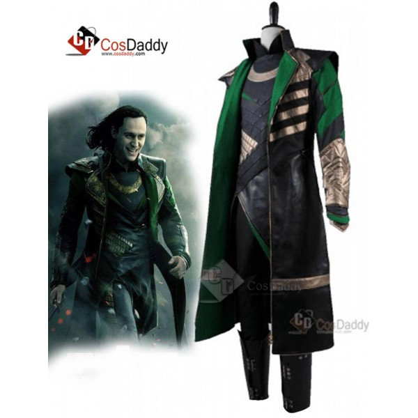 Thor: the Dark World Loki Costume Cosplay Outfit Golden