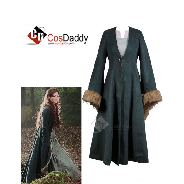 Game of Thrones Catelyn Stark Cosplay Rusty Green ...