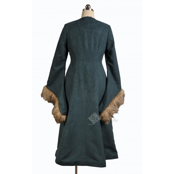 Game of Thrones Catelyn Stark Cosplay Rusty Green Long Dress Costume