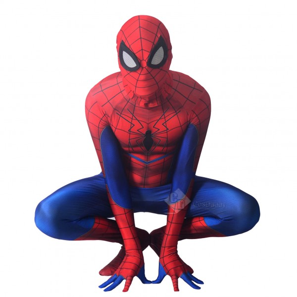 Savage Spiderman Cosplay Halloween Party Jumpsuit Costumes Spandex Bodysuit Mask