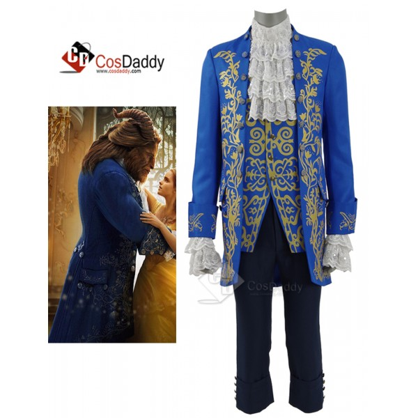 Cosdaddy 2017 New Beauty and the Beast Prince Blue...
