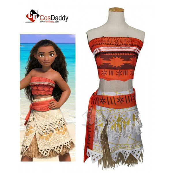 Desiney Moana  Dress Cosplay Costume