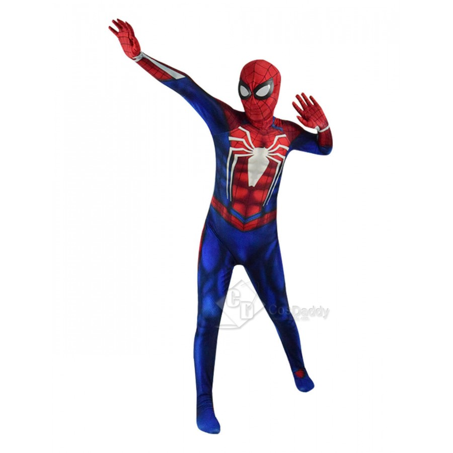 Best Xmas Gift For Him PS4 Spiderman Game Costume Adult Spandex Zentai Bodysuit