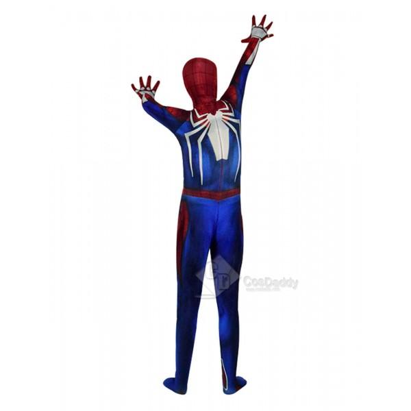 Spider Man PS4 Suit Superhero Halloween Cosplay Costumes Adult 2019
