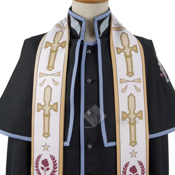 Investigators of the Vatican miracle Priest Cosplay Uniform Costume