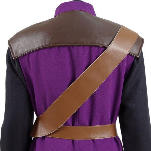 Dragon Quest Warrior Battle suit Costume Purple Uniform Cosplay Costume