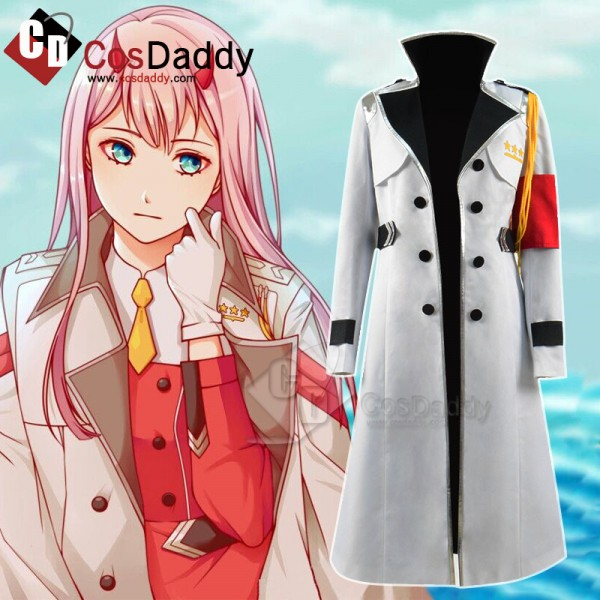 DARLING in the FRANXX ZERO TWO CODE 002 White Coat Cosplay Cotume