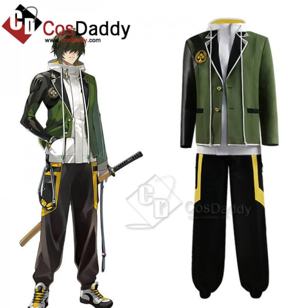Anime Touken Ranbu Kuwana Gou Cosplay Costume Outf...