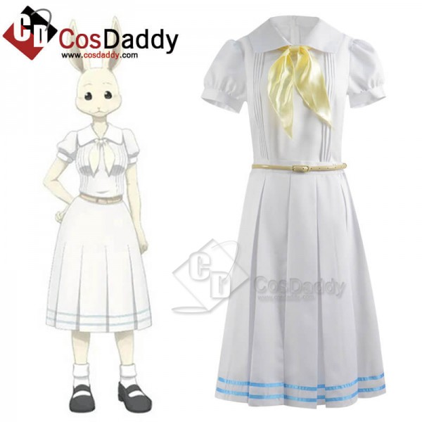 CosDaddy Beastars Haru White Dress Full Set Cospla...