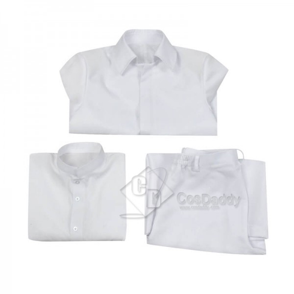 CosDaddy Akudama Drive Cutthroat Satsujinki White Uniform Cosplay Costume For Sale
