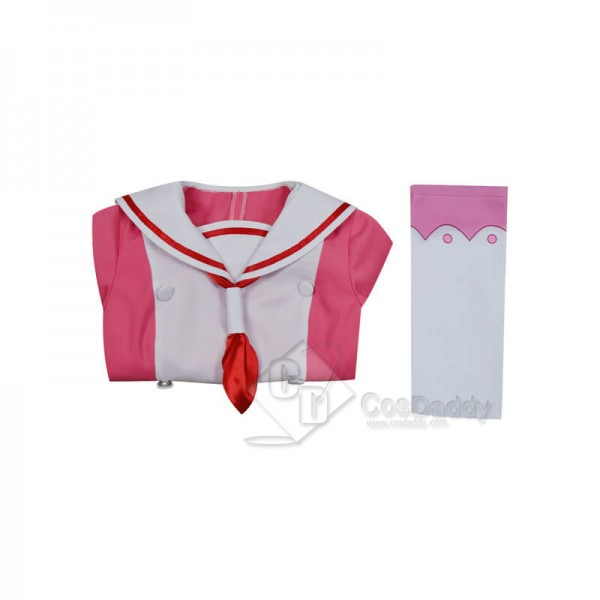 Talentless Nana Muno na Nana Nana Hiiragi Pink Dress School Uniform Cosplay Costume