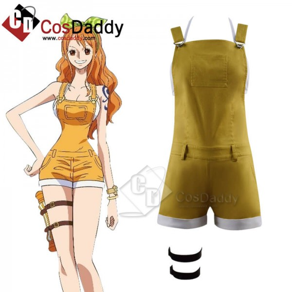 One Piece: Stampede Nami Bib Pants Cosplay Costume...