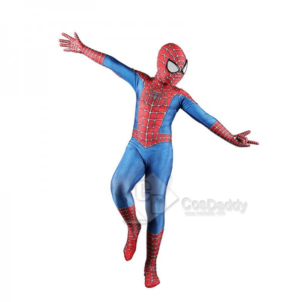 Audlt/Kids Spider-Man Lycra Spandex Zentai Halloween Cosplay Superhero Costumes