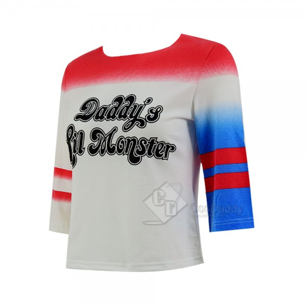 Suicide Squad Cosplay Harley Quinn T Shirt Cosplay Costume