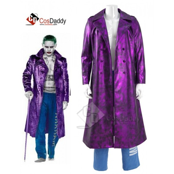 Suicide Squad Joker Purple  Cosplay Costume (Jacke...