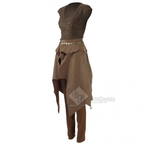 Game of Thrones Queen Daenerys Targaryen Cosplay Daily Brown Dress +Trouser+Jacket  Costume