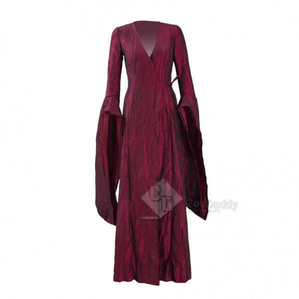 Game of Thrones Season 6 Melisandre Red Cape Dress Costumes