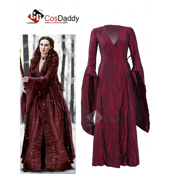 Game of Thrones Season 6 Melisandre Red Cape Dress...
