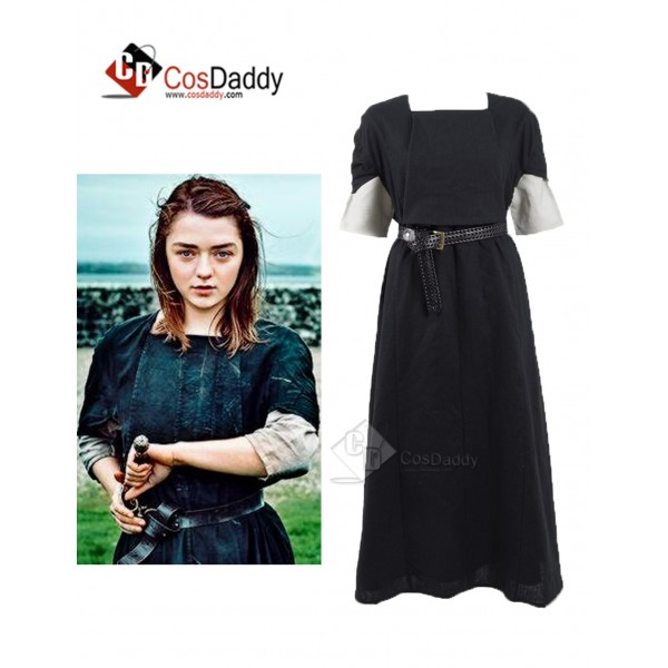 Game of Thrones  Season 6 Arya Stark Black and Whi...