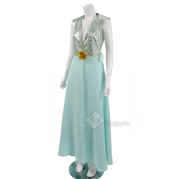 Game of Thrones Queen Margaery Tyrell Cosplay Blue Woman Dress Rose Queen Suit Costume