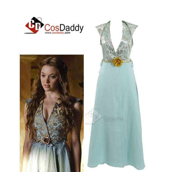 Game of Thrones Queen Margaery Tyrell Cosplay Blue...