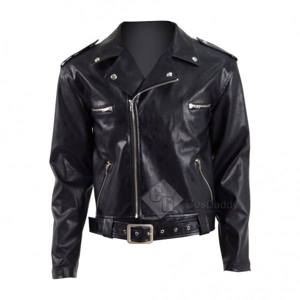 The Walking Dead Season 8 Negan Leather Jacket Cosplay Costume