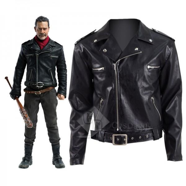 The Walking Dead Season 8 Negan Leather Jacket Cos...