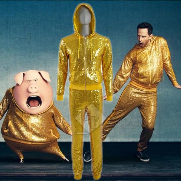 Sing Rossi Pig Golden Hoodie Jacket Boar Bob Track...