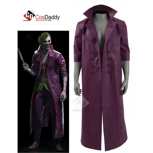 Injustice 2 the  Joker Purple Jacket Cosplay Costu...